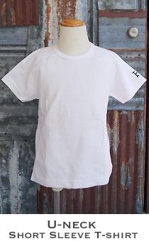 ストレッチフライス キッズ Uネック半袖Tシャツ
