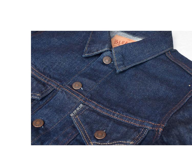 【メンズ】ブルーブルー(BLUE BLUE )2016年秋冬モデル セルビッチデニムGジャケット 700044516のイメージ画像