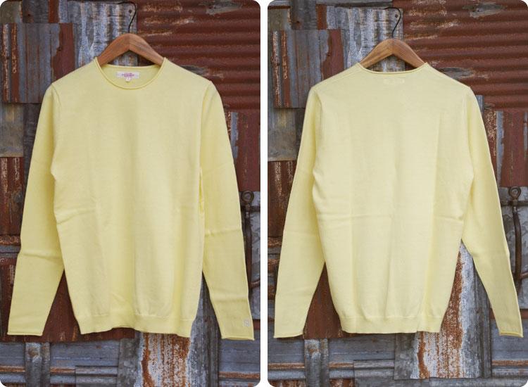 【メンズ】ハリウッドランチマーケット(HOLLYWOOD RANCH MARKET)2016年夏モデル ソフトエンブロイダリークルーネックセーター  700053328のディテール前後画像3