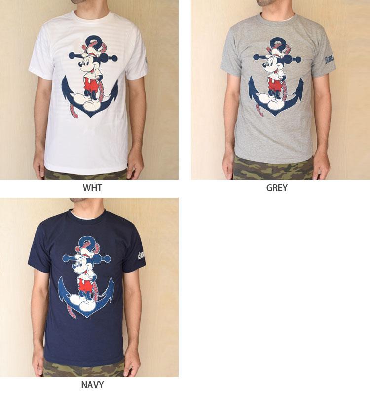 【メンズ・レディース】セイリン・ディズニー(SEILIN・DISNEY )2016年春夏モデル BLUEBLUE ANCHOR MICKEYショートスリーブTシャツ 700055905のカラーバリエーション画像