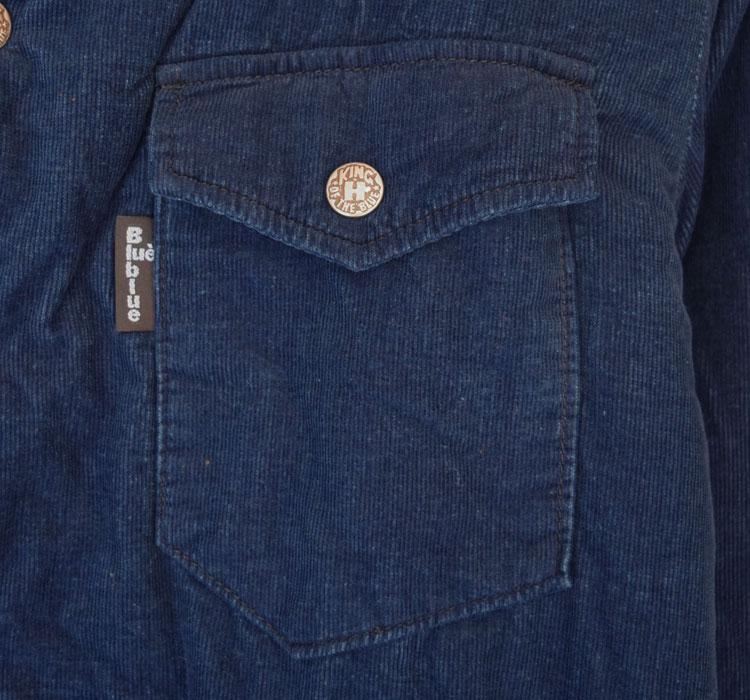 【メンズ】ブルーブルー(BLUE BLUE)2016年秋冬モデル インディゴコーデュロイボア ライニングジャケット 700057580のディテール詳細画像3