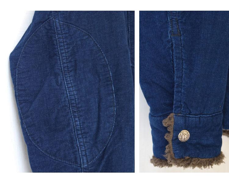 【メンズ】ブルーブルー(BLUE BLUE)2016年秋冬モデル インディゴコーデュロイボア ライニングジャケット 700057580のディテール詳細画像5