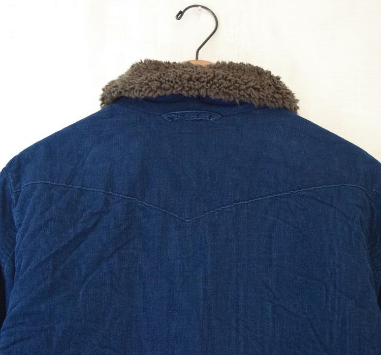 【メンズ】ブルーブルー(BLUE BLUE)2016年秋冬モデル インディゴコーデュロイボア ライニングジャケット 700057580のディテール詳細画像6