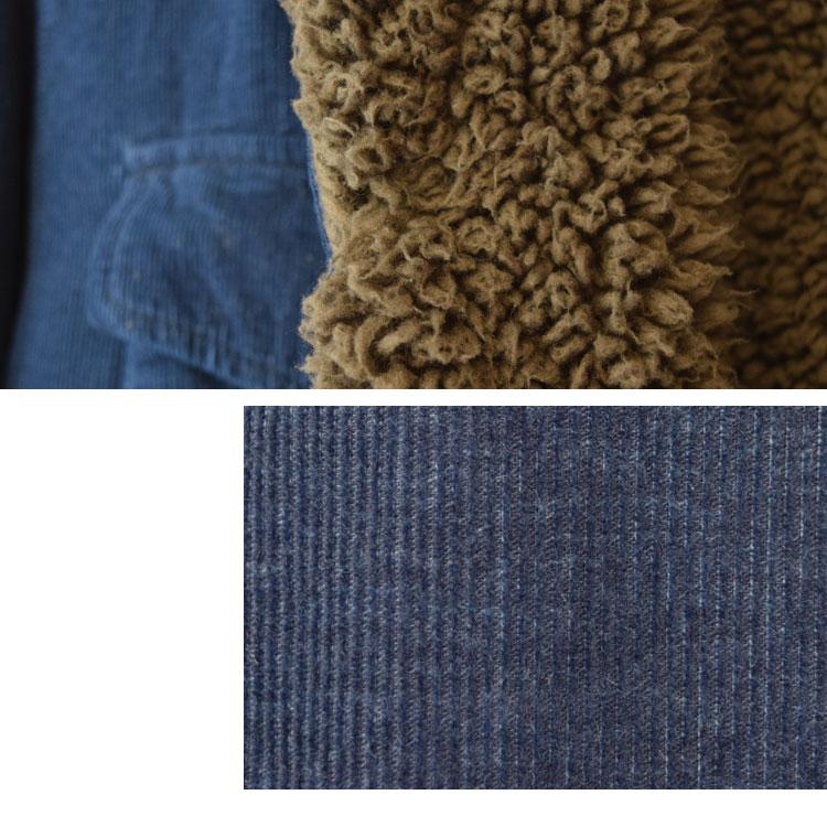 【メンズ】ブルーブルー(BLUE BLUE)2016年秋冬モデル インディゴコーデュロイボア ライニングジャケット 700057580のディテール詳細画像8
