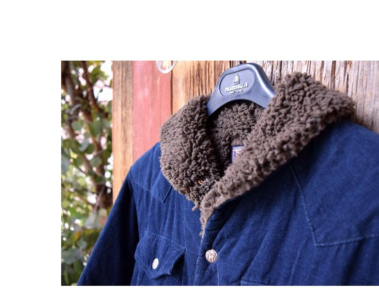 【メンズ】ブルーブルー(BLUE BLUE)2016年秋冬モデル インディゴコーデュロイボア ライニングジャケット 700057580のイメージ画像