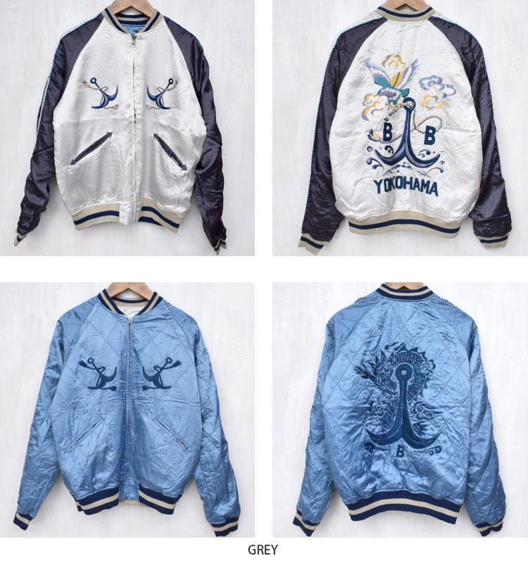 【メンズ】ブルーブルー(BLUE BLUE)2016年秋冬モデル アンカーBLUE BLUEスカジャン 700057873のカラーバリエーション画像2