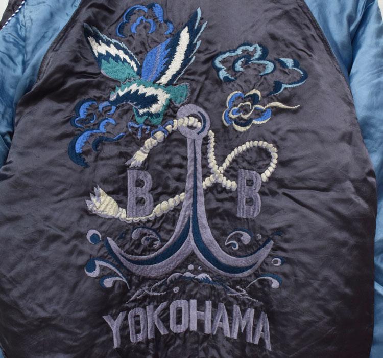 【メンズ】ブルーブルー(BLUE BLUE)2016年秋冬モデル アンカーBLUE BLUEスカジャン 700057873のディテール詳細画像7