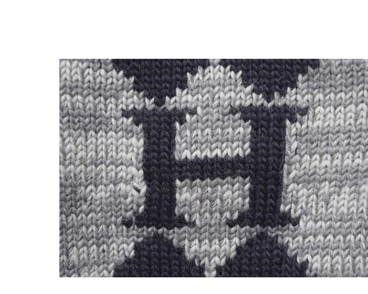 【メンズ】ハリウッドランチマーケット(HOLLYWOOD RANCH MARKET)2016年秋冬モデル H トライバルパターン ソフトウールカウチンセーター 700057883のディテール詳細画像4