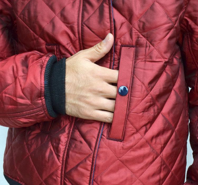 【メンズ】ブルーブルー(BLUE BLUE)2016年秋冬モデル インディゴナイロン MA1ジャケット 700059002のディテール詳細画像8