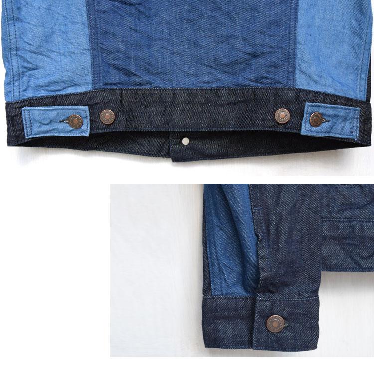 【メンズ】ブルーブルー(BLUE BLUE)2017年春夏モデル マルチデニム パネルGジャケット 700059990のディテール詳細画像5