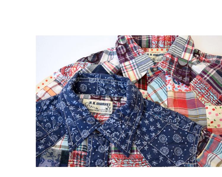 【メンズ】ハリウッドランチマーケット(HOLLYWOOD RANCH MARKET)2017年春夏モデル マドラスフラワーパッチワーク ウエスタンシャツ 700060022のイメージ画像