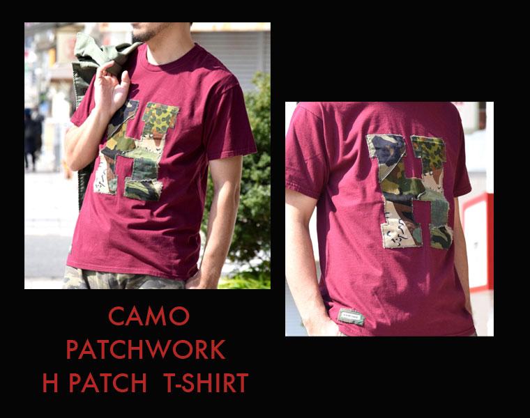 カモパッチワークHパッチ Tシャツメイン画像