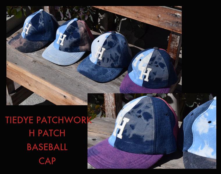 タイダイパッチワーク Hパッチ ベースボールキャップメイン画像