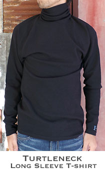 ストレッチフライス メンズ タートルネック長袖Tシャツ