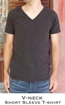 ストレッチフライス メンズ Vネック半袖Tシャツ