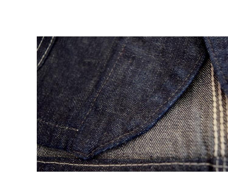 ブルーブルー(BLUEBLUE)2017年秋冬モデル ライトデニム スタンダードカバーオールジャケット DJ ディテール画像10