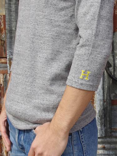 画像: ハリウッドランチマーケット 『ストレッチフライス VネックハーフスリーヴTシャツ カラー:D GREY』