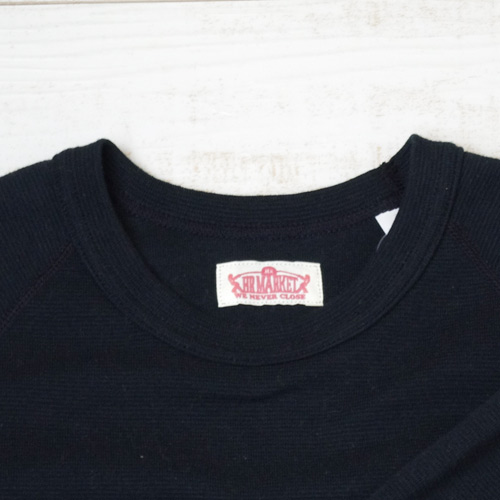 画像2: 【全カラー・全サイズ展開】ハリウッドランチマーケット 『ストレッチフライス ショートスリーヴTシャツ カラー:BLK』 (2)