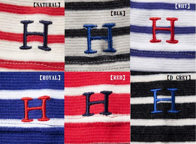 画像4: ハリウッドランチマーケット 『ストレッチフライスボーダーショートスリーブTシャツ カラー:GREY』 70049006 (4)