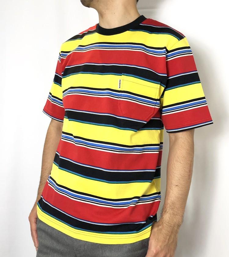 画像2: 【メンズ】ハリウッドランチマーケット(HOLLYWOOD RANCH MARKET)HRMマルチボーダー Tシャツ (2)