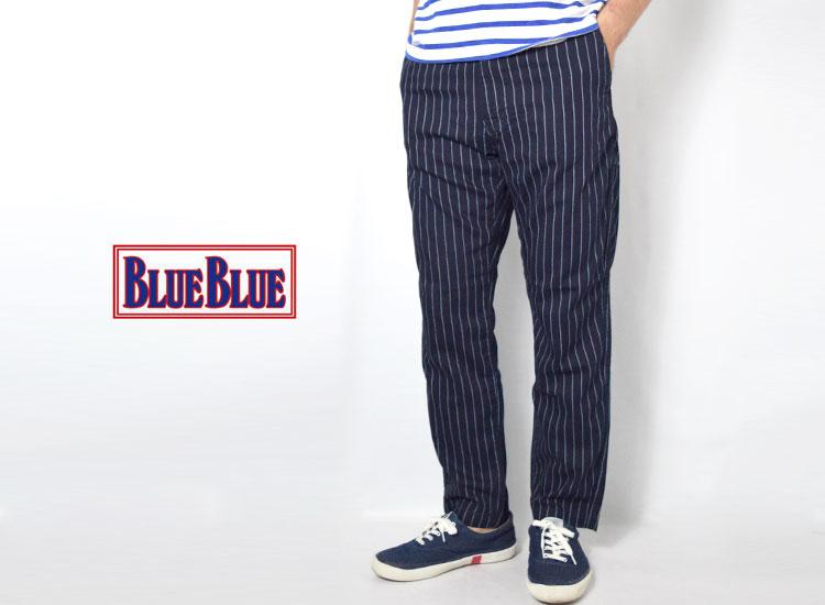 画像2: 【メンズ】ブルーブルー(BLUE BLUE)ブルーリッジストライプデニム リラックスパンツ (2)
