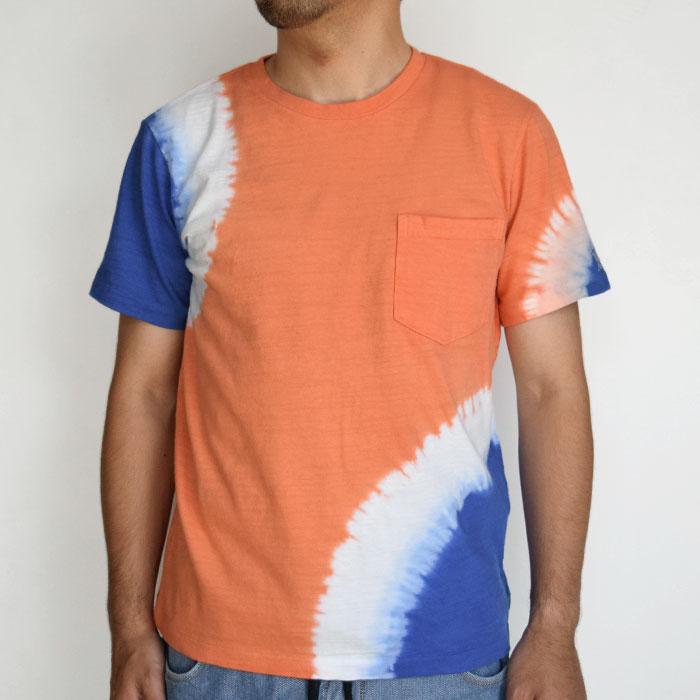 画像3: 【メンズ】ハリウッドランチマーケット(HOLLYWOOD RANCH MARKET)GSY 2トーンタイダイ ポケットクルーネックTシャツ (3)