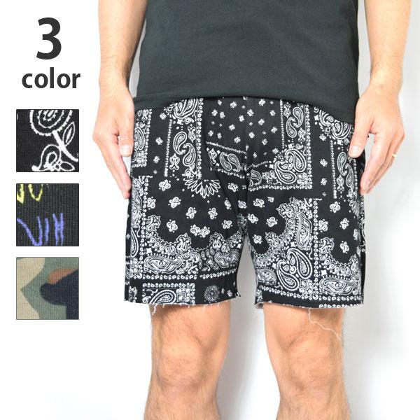画像1: 【メンズ・レディーズ】スイートパンツ(SWEET PANTS )テリーカットオフ プリントショーツ (1)