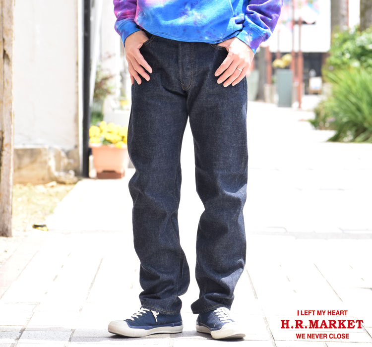画像2: 【メンズ】ハリウッドランチマーケット(HOLLYWOOD RANCH MARKET)PP58 ネップセルビッチデニム ストレートジーンズ (2)