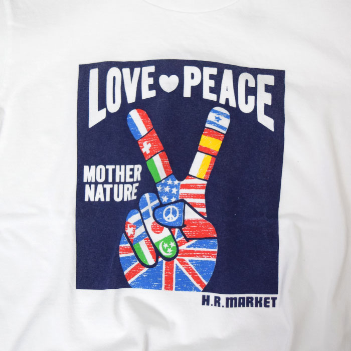 画像4: 【メンズ】ハリウッドランチマーケット(HOLLYWOOD RANCH MARKET)LOVE PEACE FLAG Tシャツ (4)