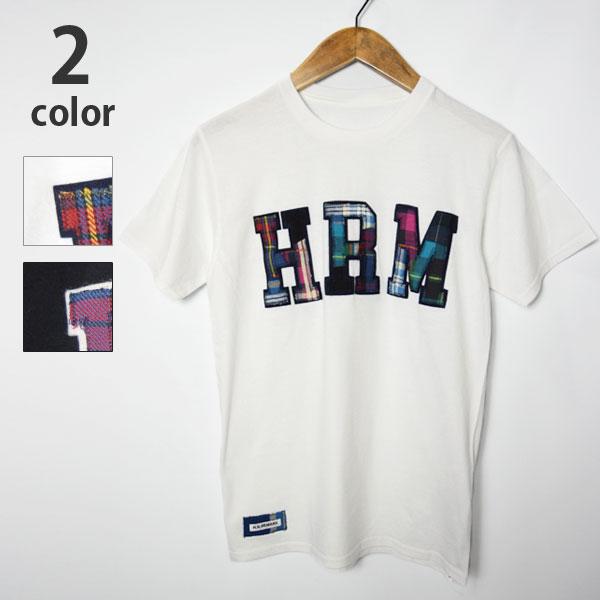 画像1: 【メンズ】エイチアールリメイク(H.R.REMAKE)HRR ダブルHRMパッチ Tシャツ (1)