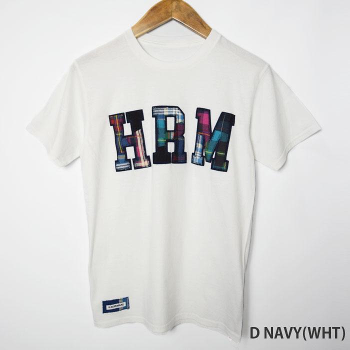 画像2: 【メンズ】エイチアールリメイク(H.R.REMAKE)HRR ダブルHRMパッチ Tシャツ (2)