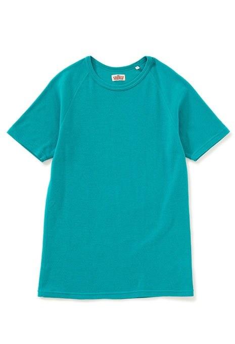画像1: HOLLYWOOD RANCH MARKET 『ストレッチフライス ショートスリーヴTシャツ カラー:EMERALD』 (1)