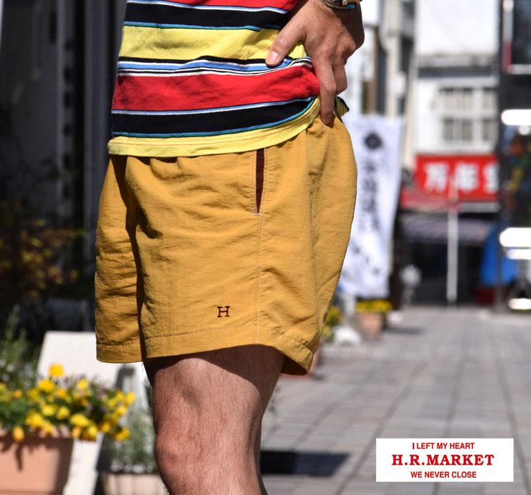画像2: 【再入荷】【メンズ】ハリウッドランチマーケット(HOLLYWOOD RANCH MARKET)Hエンブロイダリー レッグスフリー ナイロンショーツ ST2020 (2)