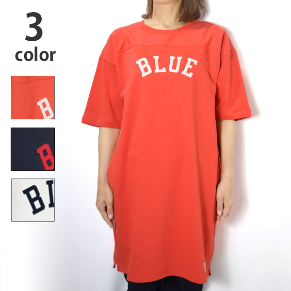 画像1: 【レディース】ラッセル・ブルーブルー(RUSSELL・BLUE BLUE)RUSSELL・BLUE BLUE BLUE フロッキーフットボールワンピース (1)