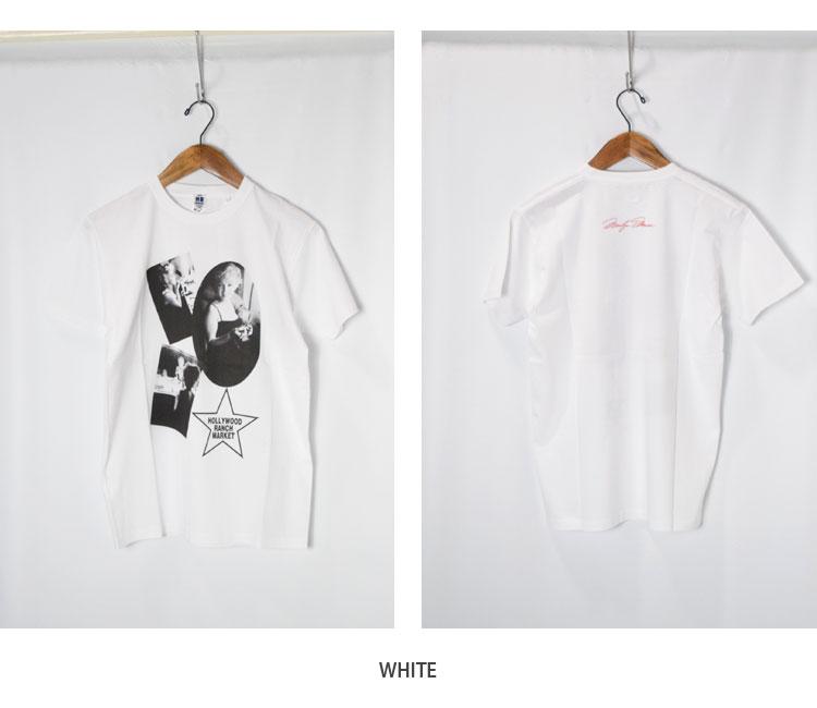 画像3: 【メンズ】ハリウッドランチマーケット(HOLLYWOOD RANCH MARKET)MARILYN MONROE・ HRM MAKE UP Tシャツ モンロー2020 (3)