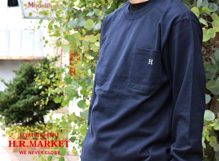 画像2: 【10/上 再入荷分予約】【メンズ】ハリウッドランチマーケット(HOLLYWOOD RANCH MARKET)Hエンブロイダリー ナローリブ ロングスリーブTシャツ (2)