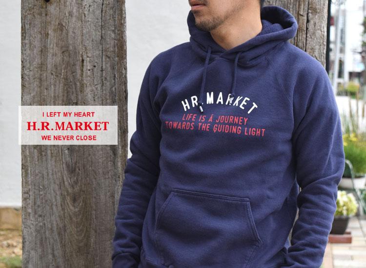 画像2: HOLLYWOOD RANCH MARKET TRICOカラー HR MARKET ロゴ スウエットプルパーカ (2)