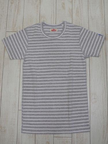 画像1: ハリウッドランチマーケット 『ストレッチフライスボーダーショートスリーブTシャツ カラー:GREY』 70049006 (1)