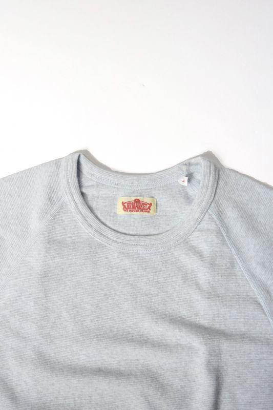 画像2: ハリウッドランチマーケット 『ストレッチフライス ショートスリーヴTシャツ カラー:SAX』 (2)