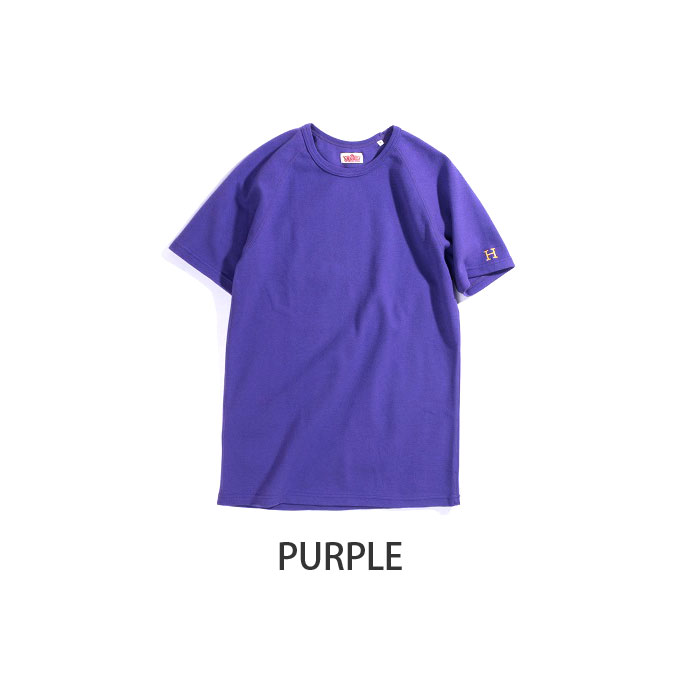 画像2: 【NEWカラー】ハリウッドランチマーケット 『ストレッチフライス ショートスリーヴTシャツ カラー:PURPLE & OLIVE』 (2)