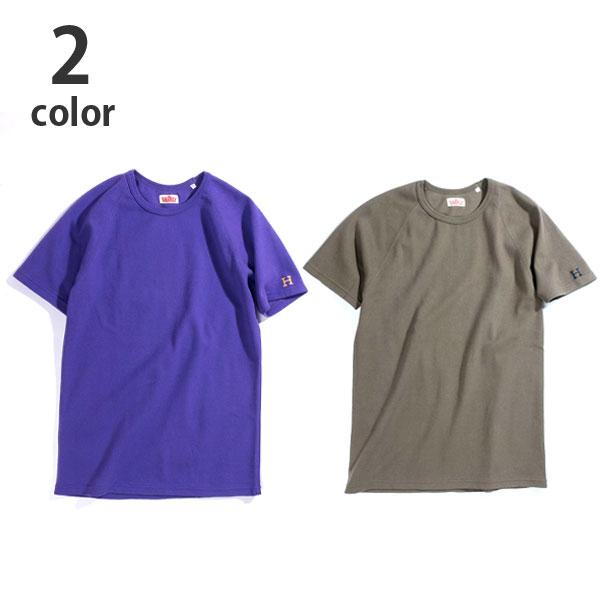 画像1: 【NEWカラー】ハリウッドランチマーケット 『ストレッチフライス ショートスリーヴTシャツ カラー:PURPLE & OLIVE』 (1)