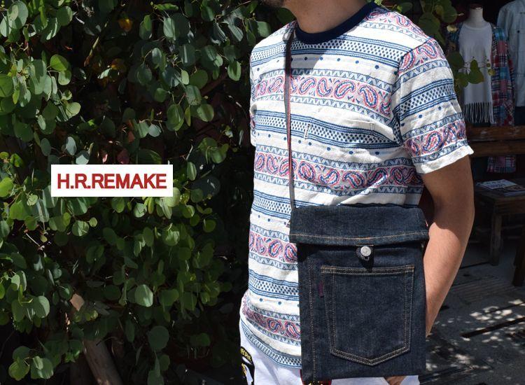 画像2: 【雑貨・小物】エイチアールリメイク(H.R.REMAKE)2018年春夏モデル JEANS SHOULDER BAG (2)