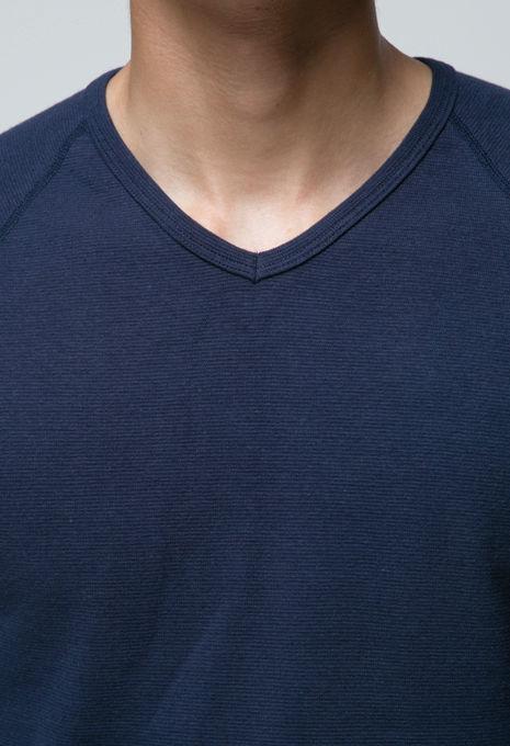 画像3: ハリウッドランチマーケット 『ストレッチフライス VネックハーフスリーヴTシャツ カラー:NAVY』 (3)