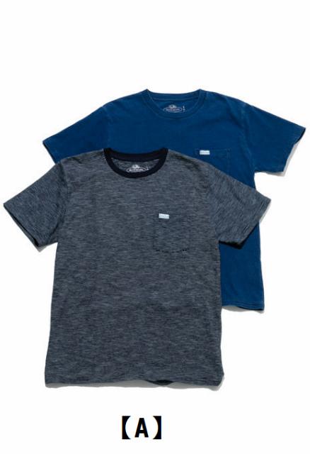 画像2: 【メンズ】フルーツオブザルーム・ブルーブルー(FRUIT OF THE LOOM・BLUE BLUE)2018年春夏モデル インディゴボーダー2パックTシャツ (2)
