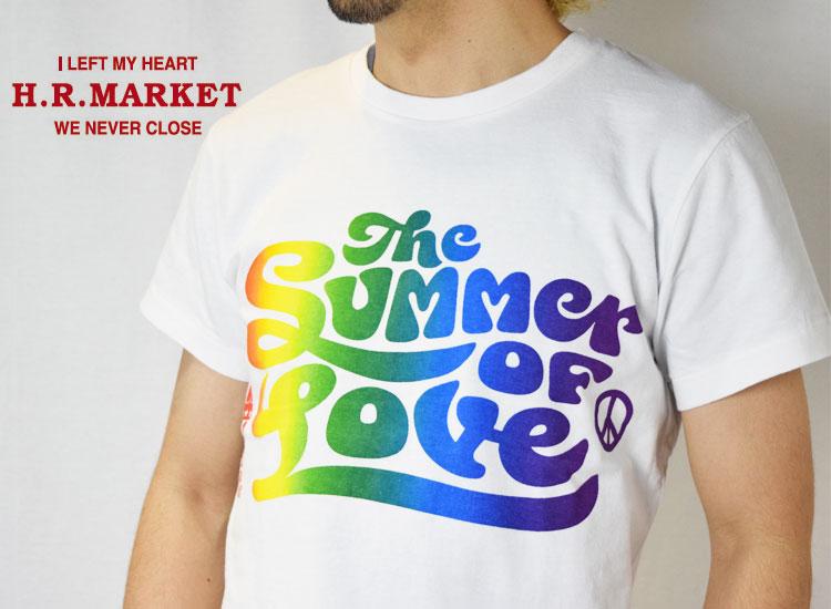 画像2: 【メンズ】ハリウッドランチマーケット(HOLLYWOOD RANCH MARKET )2018年春夏モデル SUMMER OF LOVE RAINBOW Tシャツ (2)