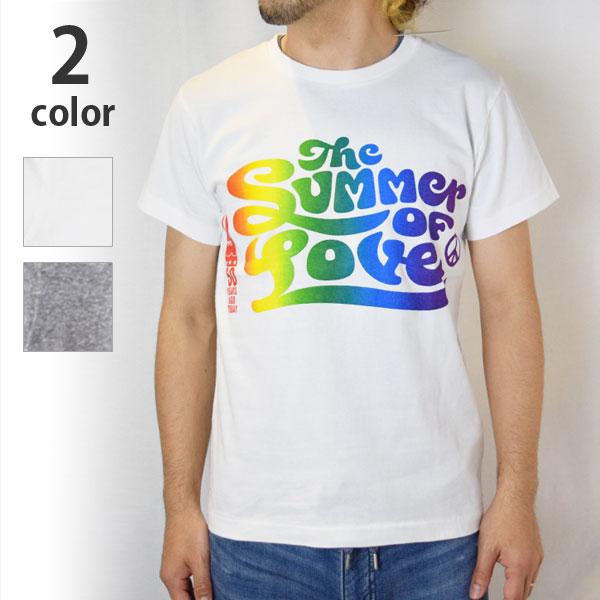 画像1: 【メンズ】ハリウッドランチマーケット(HOLLYWOOD RANCH MARKET )2018年春夏モデル SUMMER OF LOVE RAINBOW Tシャツ (1)