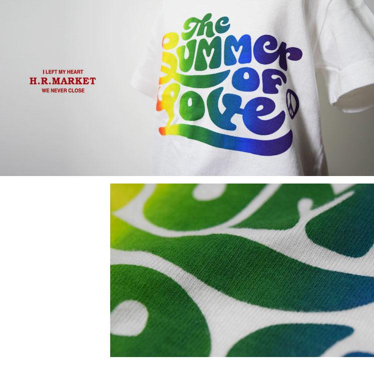 画像2: 【キッズ】ハリウッドランチマーケット(HOLLYWOOD RANCH MARKET )2018年春夏モデル SUMMER OF LOVE RAINBOW キッズTシャツ (2)