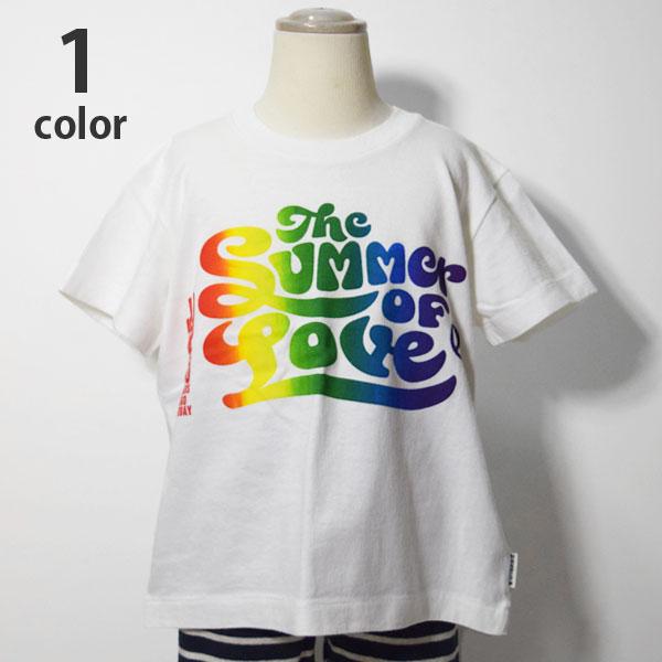 画像1: 【キッズ】ハリウッドランチマーケット(HOLLYWOOD RANCH MARKET )2018年春夏モデル SUMMER OF LOVE RAINBOW キッズTシャツ (1)
