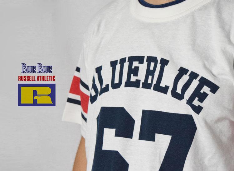画像2: 【メンズ】ラッセル・ブルーブルー(RUSSELL・BLUEBLUE)2018年春夏モデル RUSSELL・BLUE BLUEフットボールTシャツ RSL (2)