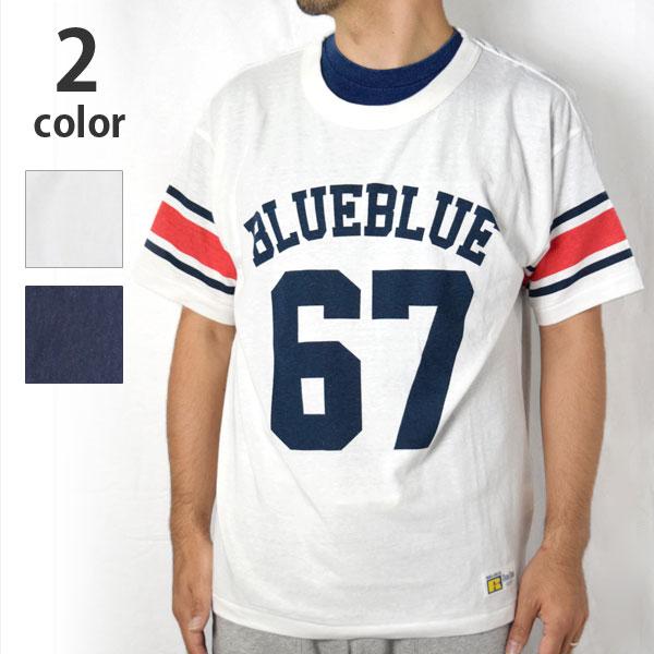 画像1: 【メンズ】ラッセル・ブルーブルー(RUSSELL・BLUEBLUE)2018年春夏モデル RUSSELL・BLUE BLUEフットボールTシャツ RSL (1)
